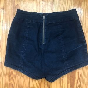Urban Outfitters Shorts - High Waisted Blue Shorts